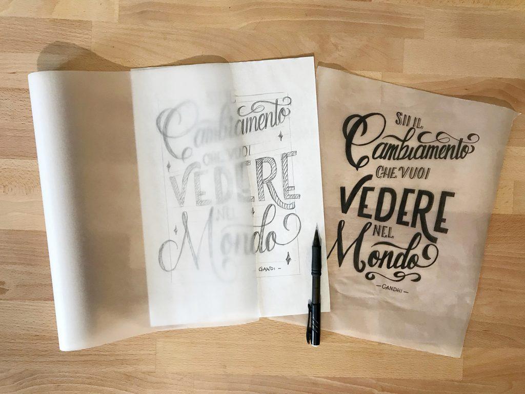 La carta trasparente per disegnare