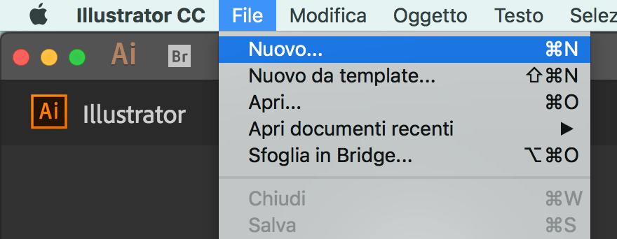 Creare un nuovo file in Illustrator