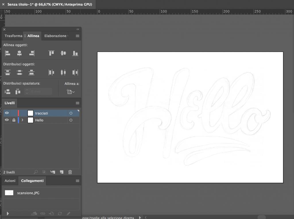 Lavorare a livelli in Illustrator