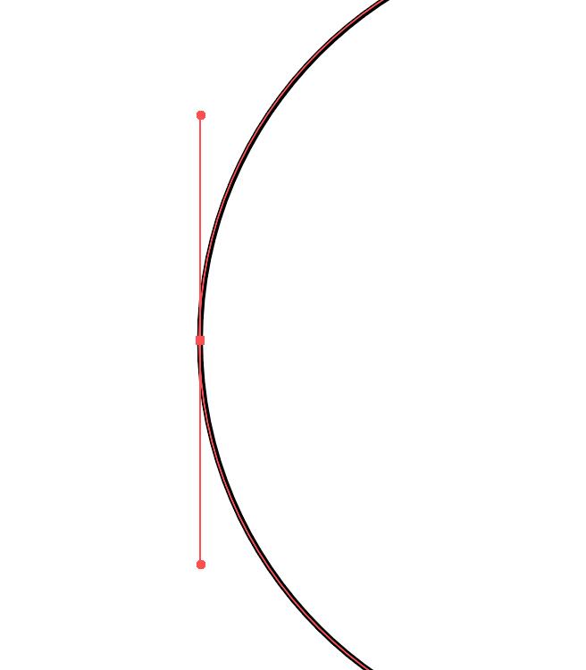 Maniglie in un tracciato vettoriale in Illustrator