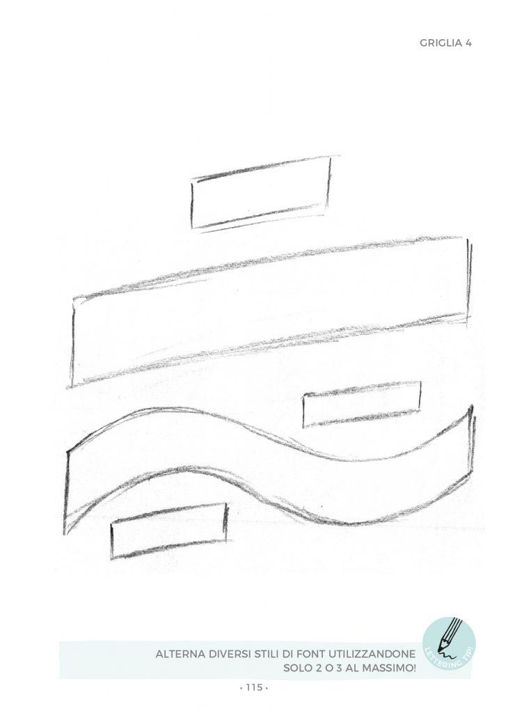 Esempio di una griglia per comporre una frase da disegnare