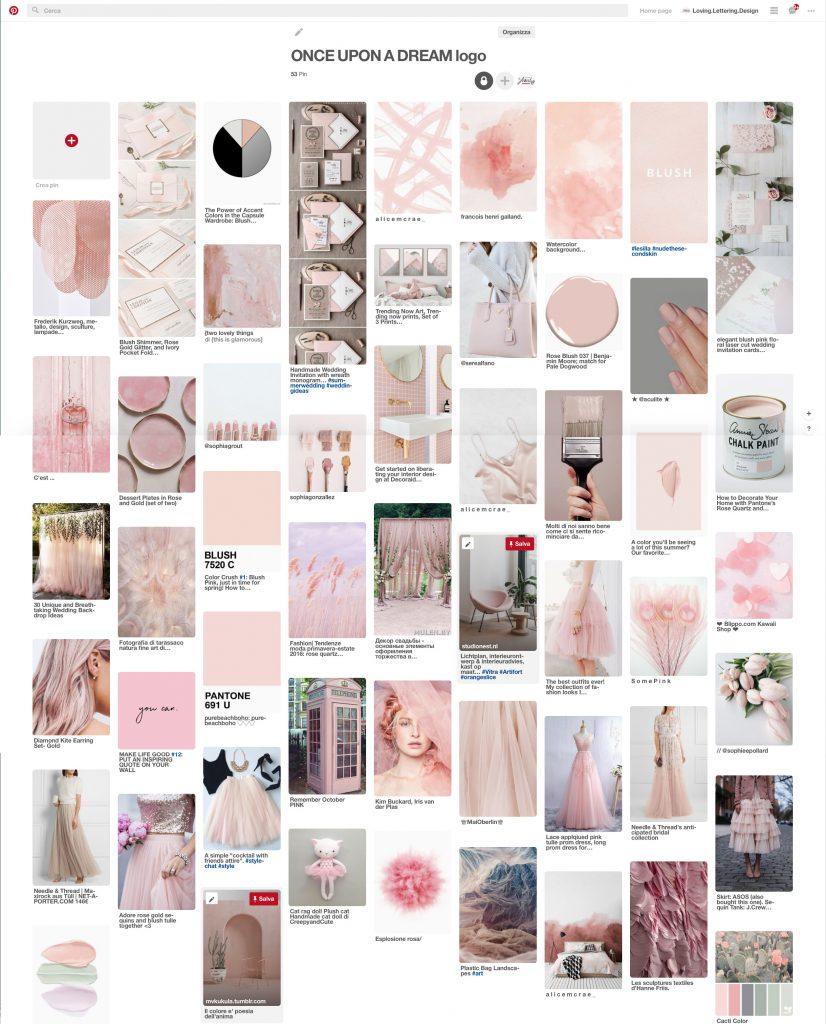 Esempio di moodboard su Pinterest