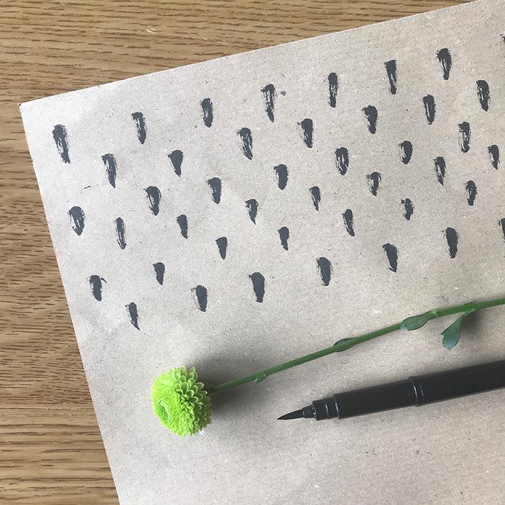 Disegnare sulla carta da pacchi