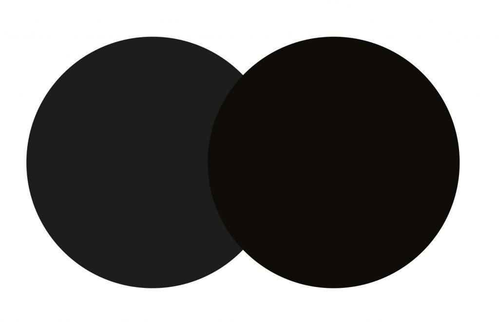 Differenza fra nero puro e di quadricromia