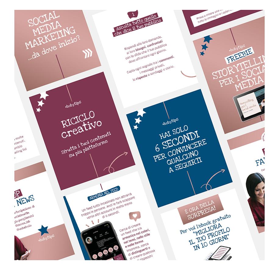 Template per social creati in Canva