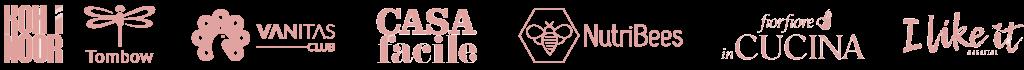 loghi di collaborazioni e clienti